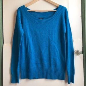 AMERICAN EAGLE Bright Blue WOOL Fuzzy Sweater